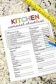 Kitchen Renovation List Planning A Kitchen Remodeling Heres A Handy Kitchen