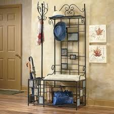 Metal Entryway Storage Bench With Coat Rack Entryway Storage Rack Beautiful Metal Entryway Storage Bench With 6