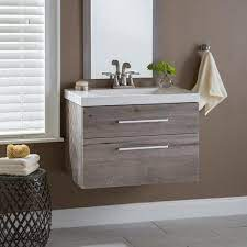 Domani Larissa 31 In W X 19 In D Wall Hung Bath Vanity White Washed Oak With Cultured Marble Vanity Top In White With Sink Lr30p2 Wo The Home Depot