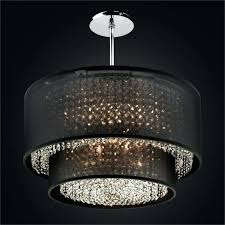 crystal chandelier with sheer drum shade eimatco for awesome house crystal chandelier with sheer drum shade plan