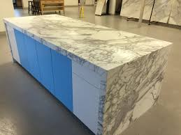 calacatta marble kitchen waterfall:  granite kitchen countertops img
