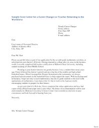 Cover Letter For Education Job Sample Fresher Teacher Application