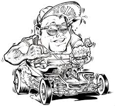 Small Picture 47 best Hot Rod Coloring images on Pinterest Rat fink Colouring