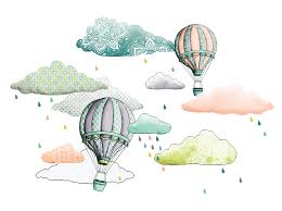 Isao Illustration Hot Air Balloon And Cloud Montgolfi Re Et