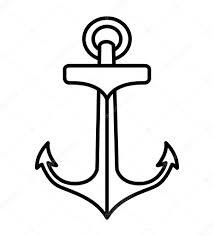 Kotva Kreslení Tetování Styl Izolované Ikonu Stock Vektor