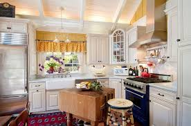 small kitchen island butcher block. Beautiful Small FurnituresShabby Chic Kitchen With White Counter Also Small  Island Under Chandelier Inside Butcher Block D