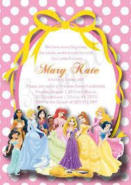 Disney Princess Party Invitations Templates On Free Printable Mickey