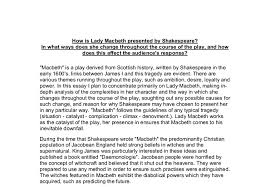 how is lady macbeth presented by shakespeare in what ways does  document image preview