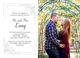Wedding Announcement Photo Cards Wedding Announcement Cards Quick Affordable Marriages And Weddings