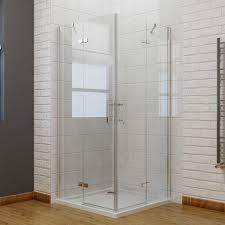 elegant 900 x 760 mm frameless pivot 6mm corner entry shower enclosure set