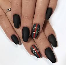 Chanel Nail Design Pin By Momo Cohen On Nail Art Gucci Nails Trendy Nails