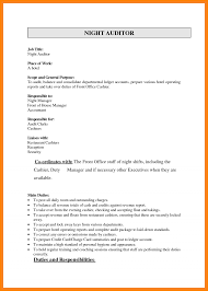 Night Auditor Job Description Resume Hotel Night Auditor Resume Audit Q100 Job Duties Position 5