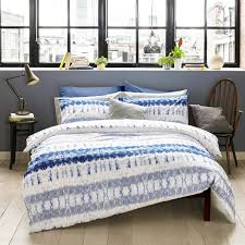 easy care arizona blue bed set duvet cover