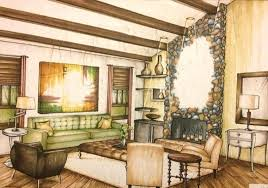 interior design hand drawings. My Interior Design Able To Utilize Artistic Talent With Hand Drawings And Marker Techniques