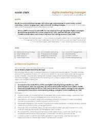 34 Resume Templates Marketing Marketing Resume Template Images