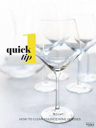 clean wine glasses on a light background
