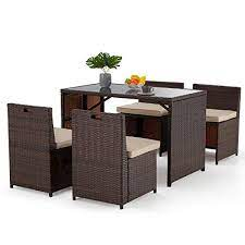 erommy 5 pieces patio dining set