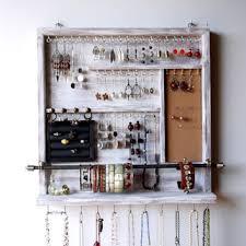 wall jewelry storage. Exellent Storage Jewelry Organizer Earrings Holder Jewelery Rack Necklace Holde Inside Wall Storage R