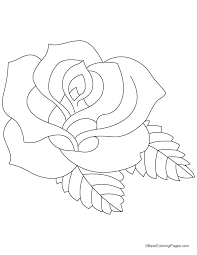 coloring page of a rose rose coloring pages great rose coloring pages in coloring books with