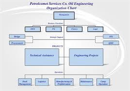 Petrolcomet Organisation Chart