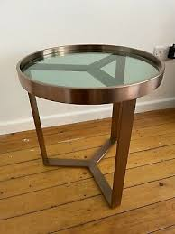 nesting coffee table brushed brass