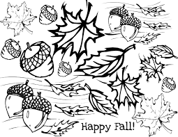 Small Picture Fall Leaves Outline Coloring Page At Pages With Leaf glumme