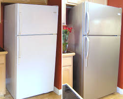 view in gallery refrigerator makeover with thomas liquid stainless steel