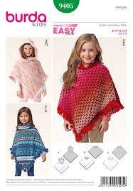 Poncho Sewing Pattern Stunning Burda B48 Children's Poncho Sewing Pattern