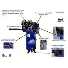 7 5hp vertical compressor polar air by eaton compressor 7 5 hp v4 single phase 80 gallon vertical air compressor