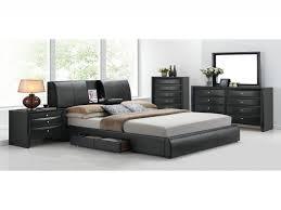 Queen Storage Bedroom Set Lovely Acme Q Kofi 4pcs Black Pu Storage Queen  Bedroom Set Furniture