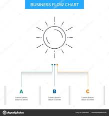 Sun Space Planet Astronomy Weather Business Flow Chart