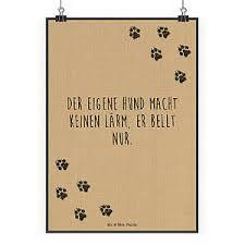 Poster Din A2 Sprüche Zitate Hund Hunde Lärm Bellen Haustier
