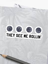 They See Me Rollin They Hatin Emoji They See Me Rollin Black Moon Emoji Trendy Hipster Tumblr Meme Sticker