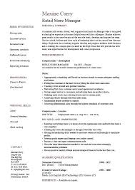 Retail Store Manager Resume Lovely Retail Assistant Manager Resume