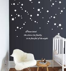 silver star wall decals pattern superb star wall decals
