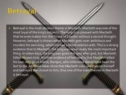 betrayal in macbeth essay  betrayal in macbeth essay