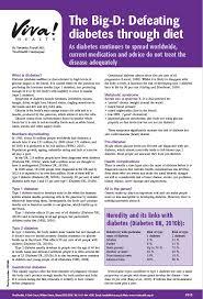 Diabetes Medications Chart Pdf Diabetes Fact Sheet Resources Viva Health