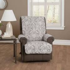 add a pretty touch to your living room with this innovative textile solutions diana recliner wing chair protector