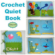 free crochet toddler quiet book pattern
