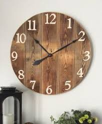wood plank wall art collection oversized white rustic wall clock