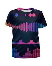 """Детские футболки c необычными принтами """"music"""" - купить в ..."""