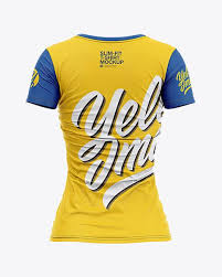 By simply pasting your graphic into the smart object layer, photoshop will. Women S Slim Fit V Neck T Shirt Mockup Back View In Apparel Mockups On Yellow Images Object Mockups Shirt Mockup Clothing Mockup Tshirt Mockup