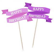 Pink Banners Pink Happy Birthday Banners 12pk