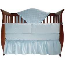 american baby company heavenly soft minky dot 4 piece crib bedding set blue com