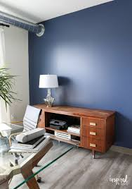 indigo home office. The Navy Blue Accent Wall Is Sherwin Williams, Indigo Batik - Feature Paint For Home Office I