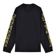 R13 Size Chart Black Long Sleeved T Shirt