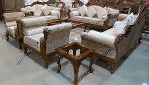 wood sofa set designer living room