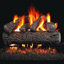 peterson real fyre 18 inch post oak gas log set with vented natural gas g4