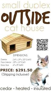 warm outdoor cat house heated outdoor cat house large the outside is spacious enough to 2 warm outdoor cat house