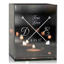 Personalised Tea Light Candle Holders True Love Arrows Personalized Tea Light Candle Holder